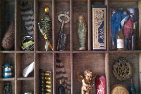 shelf with mementos